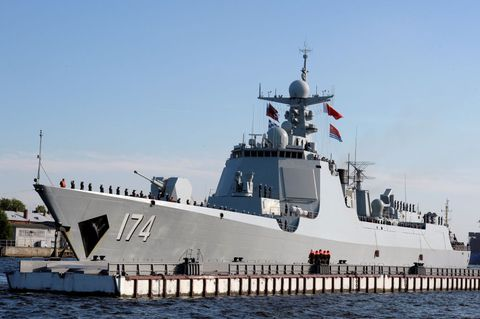 Type 052D destroyer Hefei, St. Petersburg, Russia, July 2017.
