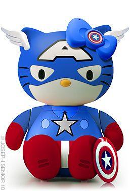 Hello Captain Amerikitty! #avengers