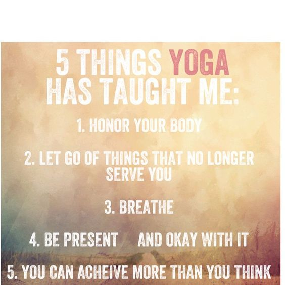 5 things yoga has taught me.