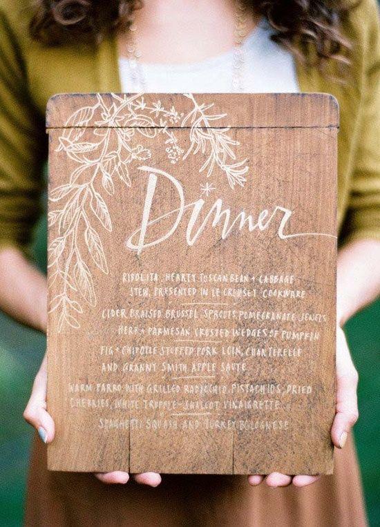 #casamento #menu #tábuademadeira