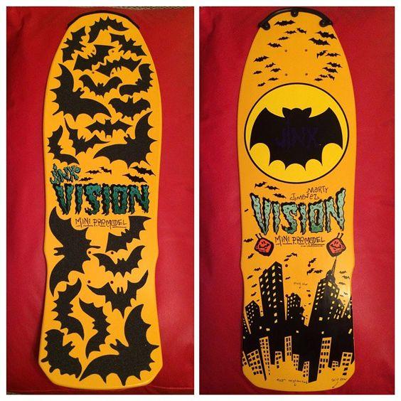 Detalhes das lixas de morcegos customizadas por Veloso Lopes