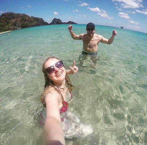 """@mayemailson - """"Feliz 1 mês!  Que a nossa alegria amor e união nunca acabe! """" - #alegria #amor #paz #união #fernandodenoronha #Sancho #curtonoronha #amonoronha #noronhando #casaisemfotos #andarilhosapaixonados #gopro #goprobrasil #selfiegopro #blogvivernoronha"""