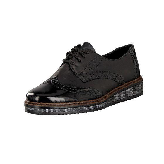 Rieker Damen Schnürer schwarz N0312 00 | Schuhe frauen