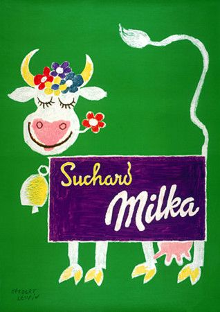 Vintage Suchard chocolates Advertising Poster