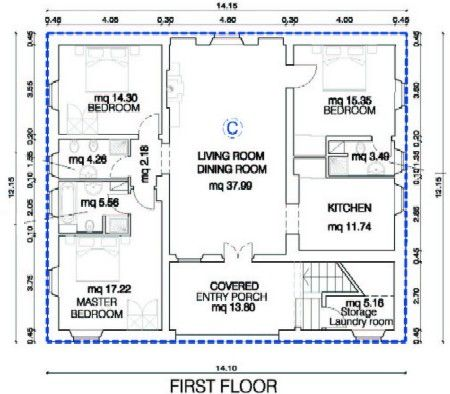 Barns with living quarters floor plans tobacco barn for Tobacco barn house plans