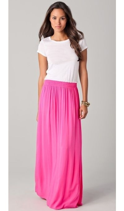 Tee Maxi Dress: Summer Dress, Pink Skirts, Long Skirts, Summer Maxi Dresses, Tee Dress, Pink Maxi Dresses, Maxi Skirts