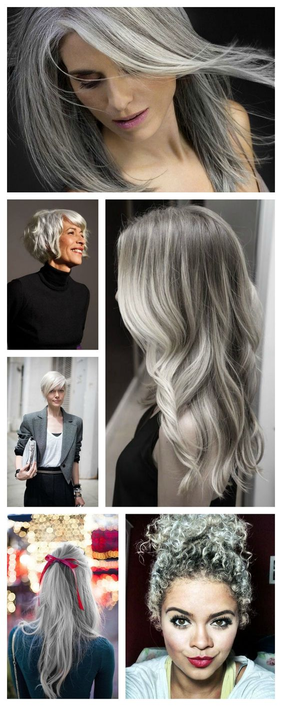 Inspiration Silver Hair Cheveux Argents Hair Hairspiration