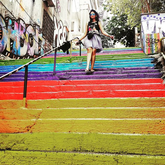 Colors, colors everywhere in #Istanbul, #turkey! We actually stumbled on these vibrant Stairs & then found out the heartwarming story behind them! Read the story here: http://weburbanist.com/2013/09/29/painting-as-protest-rainbow-stairs-spark-guerilla-reaction/  #StairsoftheWorld #Holiday #TravelDiaries #Travel #TurkeyTravel #ImISStanbul #RainbowStairs #Rainbow #RainbowSteps