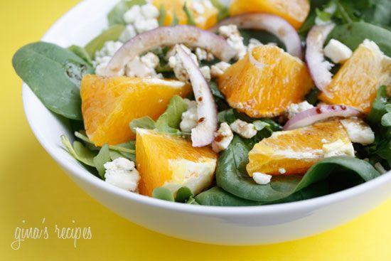 Orange, Red Onion, Gorgonzola and Arugula Salad   Skinnytaste