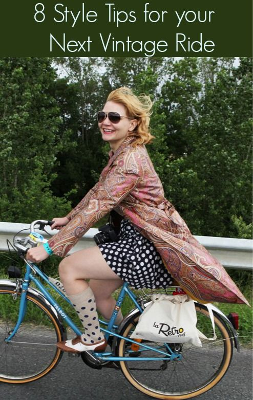 8 Style Tips for your Next Vintage Ride: Match your socks to your look, but not too matchy: mimic the motif, not the colorway.  And don't€ forget your raincoat!