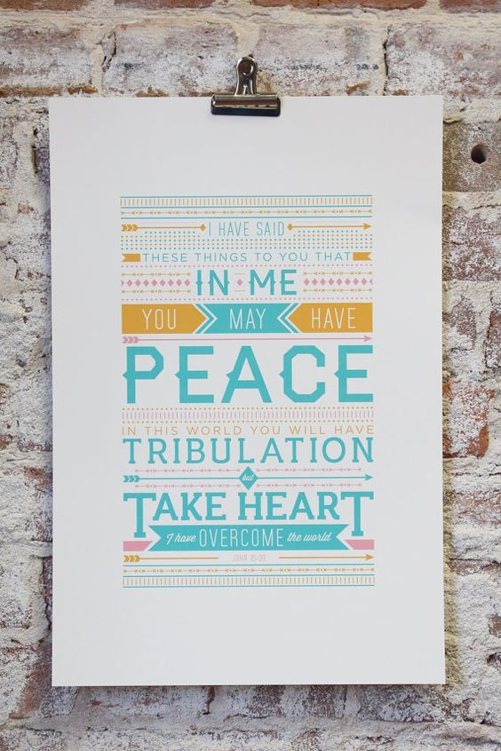 Typography Poster Print  John 1633 by ckdesignmission on Etsy