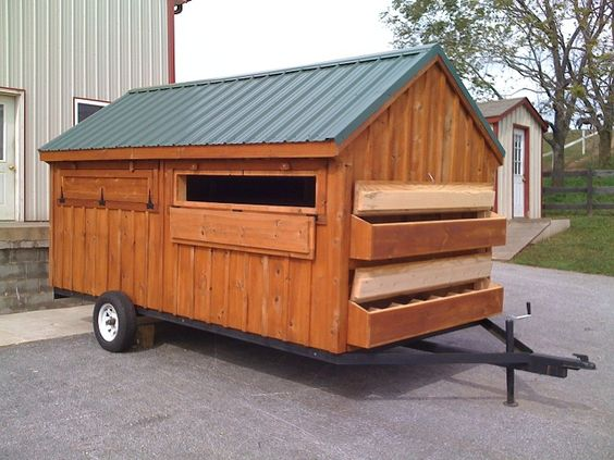 Mobile hen house design home design and style for Mobile chicken coop plans