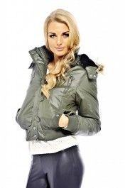 Split Zip Fur Hooded Bomber Coat #fashion