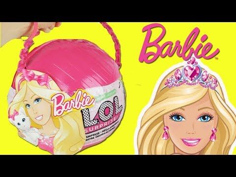 Lol Big Surprise Custom Ball Opening Featuring Barbie We Customized The Lol Big Surprise Doll Ball And Made It Into A Diy Barbie Clothes Barbie Barbie Toys