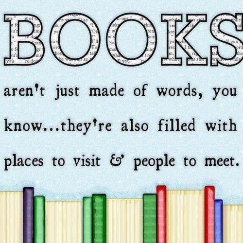Books aren't just made of words, you know... they're also filled with places to wait & people to meet.