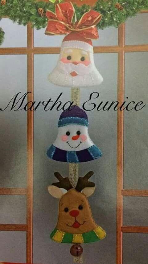 Manualidades De Navidad Campanas.Campanas Navidad Decoracion Navidad Manualidades