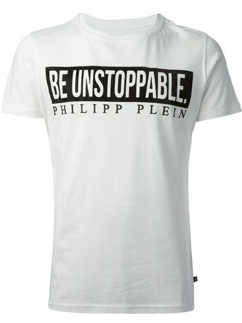 Shop Philipp Plein 'Shine On' T-shirt in Spinnaker 141 from the world's best independent boutiques at farfetch.com. Over 1000 designers from 300 boutiques in one website.
