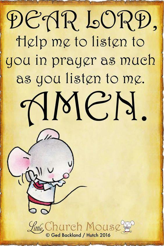 Dear Lord, ......
