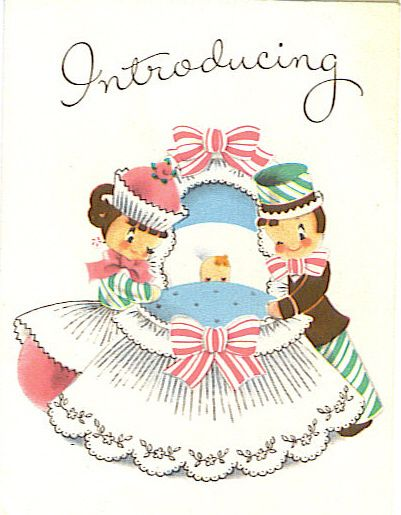 New baby: New Baby Boys, Vintage Postcards, Vintage Cards Valentines, Vintage Images Cards, Baby Cards, Vintage Cards Illustration, Greeting Cards, Vintage Baby Card, Cards Ads Illustrations