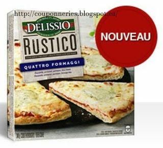 Coupons et Circulaires: 1$ sur la Pizza DELISSIO
