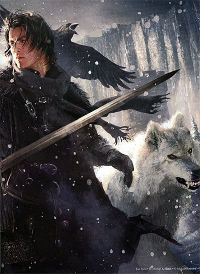 Jon Snow and Ghost. The Art of George R. R. Martin's A Song of Fire & Ice (Game of Thrones)