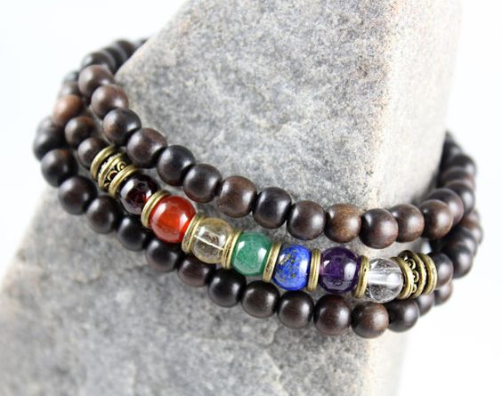 Pulseras de piedras preciosas Chakra pila por goodmedicinegemstone