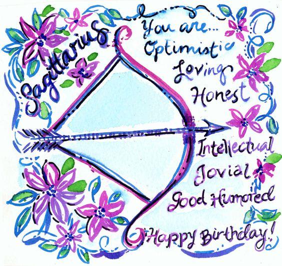 happy birthday sagittarius ile ilgili görsel sonucu