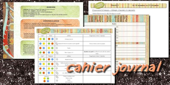 La maternelle de Laurène: Cahier enseignante et cahier journal