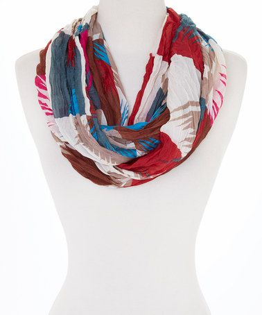 Another great find on #zulily! Maroon & Beige Watercolor Infinity Scarf #zulilyfinds