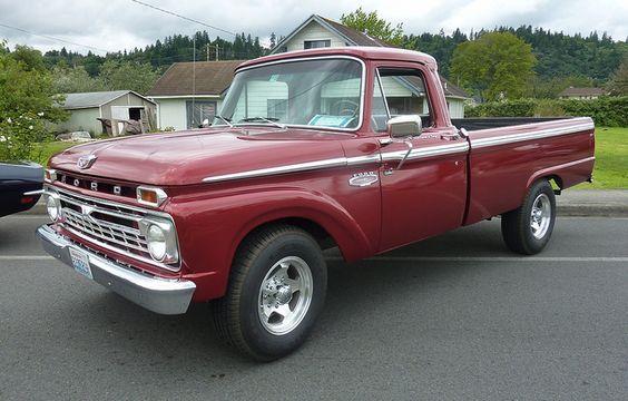 1966 Ford P/U, Custom Cab, Camper Special. Red. My dream truck.