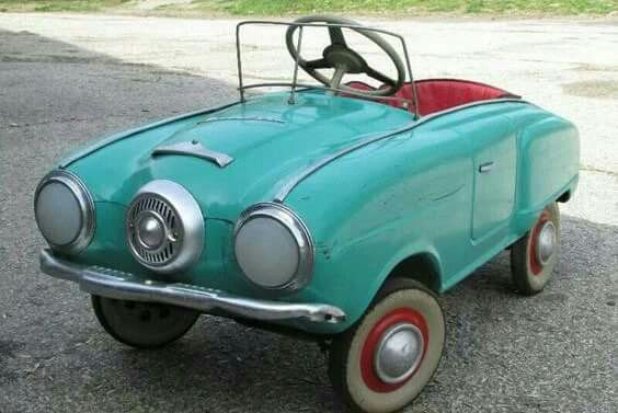 Turquoise vintage car