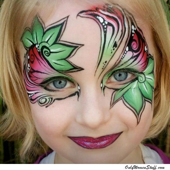 15 Easy Kids Face Painting Ideas For Little Girls Diy Face Painting Designs Christmas Face Painting Girl Face Painting