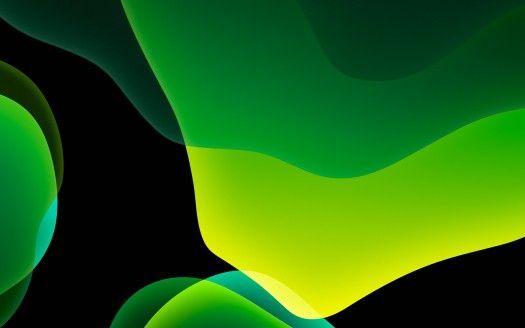 Ios 13 Ipados Green Dark Mode 4k Hintergrundbilder Ultra Hd 4k