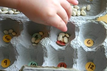 Rainy Day Activity with Egg Cartons