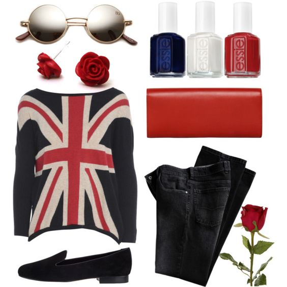 """""""Union Jack - Rose"""" by theclevergirl on Polyvore"""