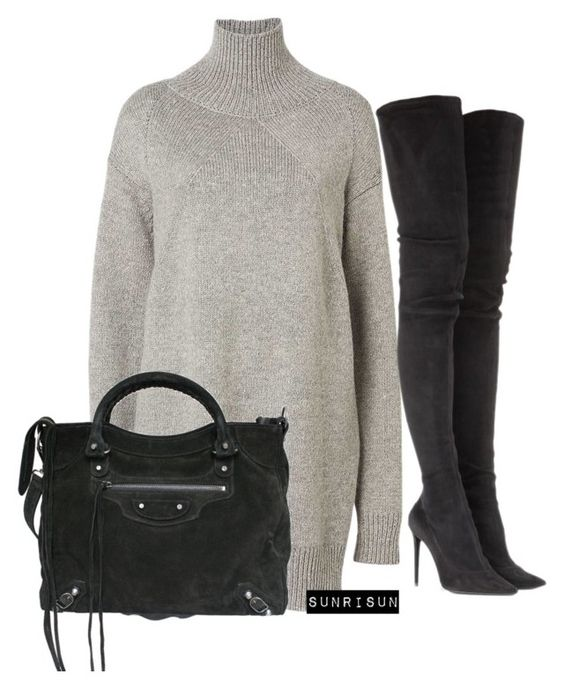 """""""Untitled #1964"""" by sunrisun ❤ liked on Polyvore featuring Witchery, Tamara Mellon and Balenciaga"""