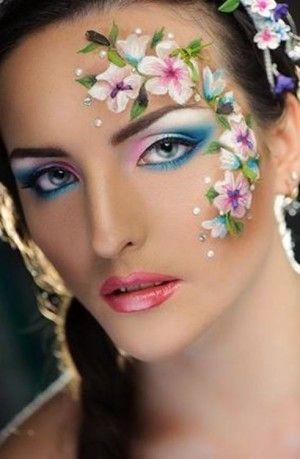 Ideas de maquillaje fantasía para Carnaval 2016: flor