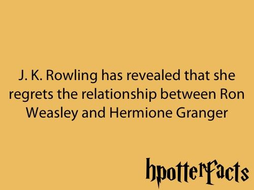You should have sticked with Fred and Hermione, women!:
