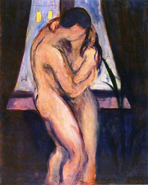 "Passion: Edvard Munch, ""The Kiss,"" 1896-1897."