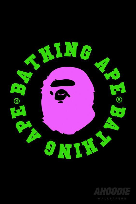 緑×ピンクのA BATHING APE
