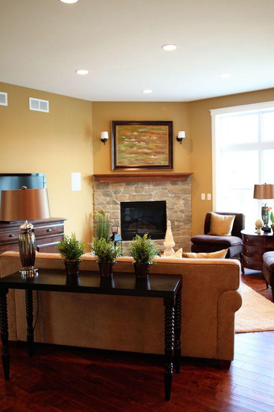 Pin By Chris Mcclurkin On Dream Home Corner Fireplace Living Room Living Room Corner Fireplace Furniture Arrangement