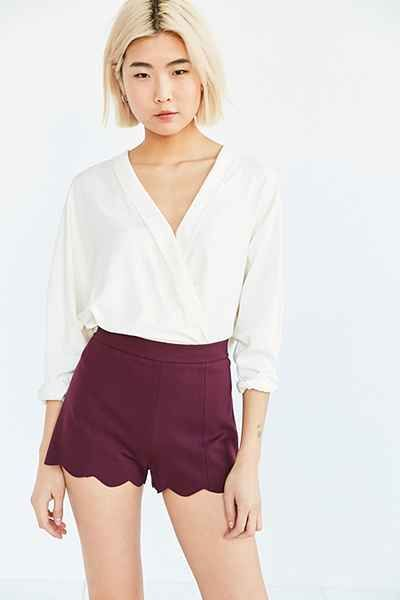 Cooperative Pull-On Ponte Scallop Short - Urban Outfitters