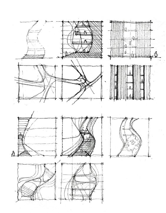 sketches  architecture sketches and urban planning on