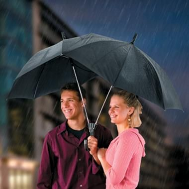 A two person umbrella - then they won't poke each others eyes out