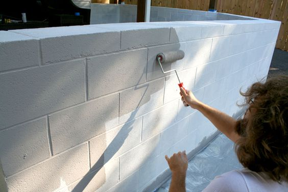 Little things bring smiles how to paint cinder block - Concrete block painting ideas ...
