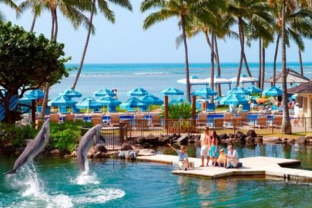 This legendary, 5-star resort is nestled on an exclusive ivory-sand beach in Oahu. The spacious rooms and suites offer spectacular vistas overlooking the ocean, mountains, or dolphin lagoon. http://www.classicvacations.com/promos/kahala-oahu-makena-maui