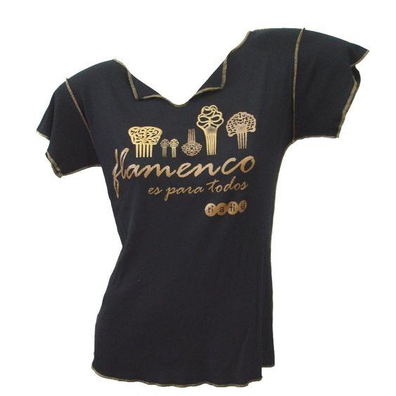 Camiseta baby look  estampa Flamenco Es Para Todos