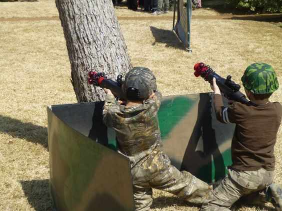 Check out the helmets! Way cool army party!  #partyIdeas