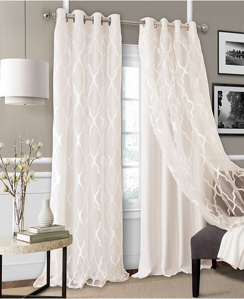 Elrene Bethany 52 Layered Curtains Panel Curtains Living Room Decor Curtains