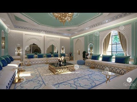 Majlis Interior Design In A Luxury Classic And Modern Style New Design Of 2019 Year With Excl Moroccan Interiors Moroccan Style Interior Interior Design Dubai